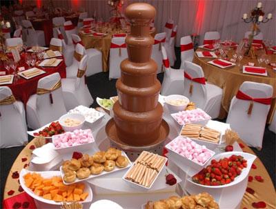 fontanna czekoladowa łuków