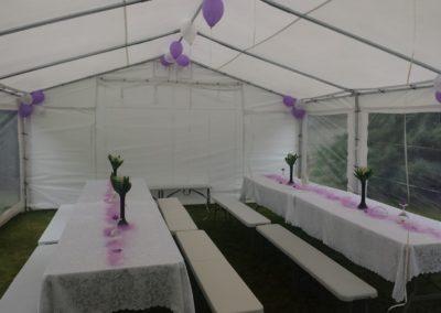 namiot + dekoracja